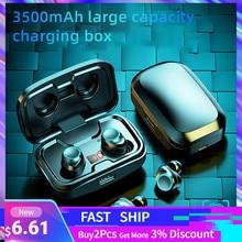 TWS Bluetooth 5,0 Kopfhörer 3500mAh Lade Box Drahtlose Kopfhörer 9D Stereo Sport Wasserdichte Ohrhörer Headsets Mit Mikrofon