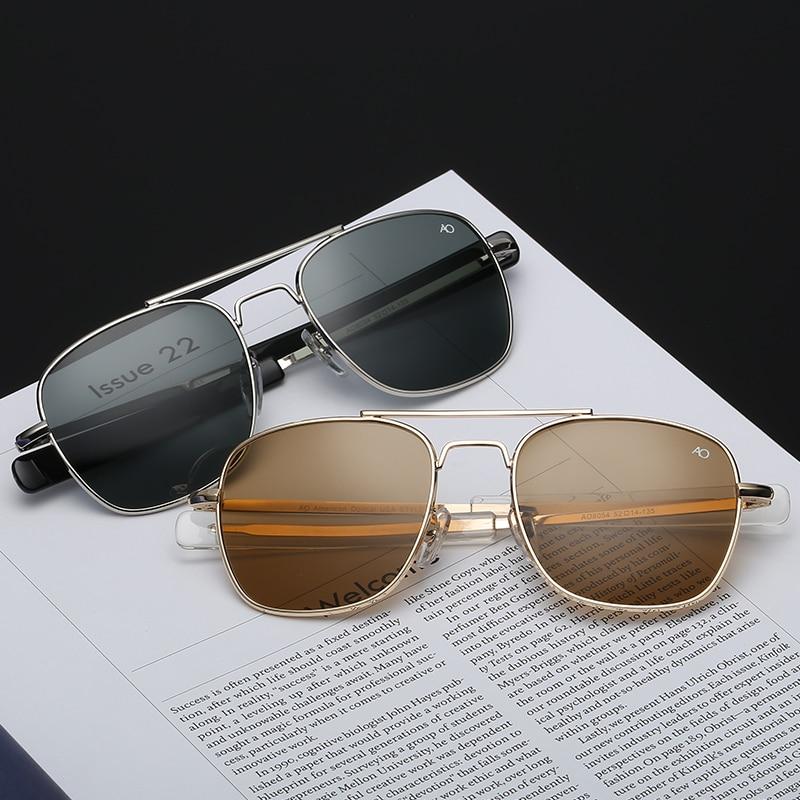 Nova moda aviação ao óculos de sol dos homens marca de luxo designer óculos de sol para masculino clássico vintage metal quadrado uv400