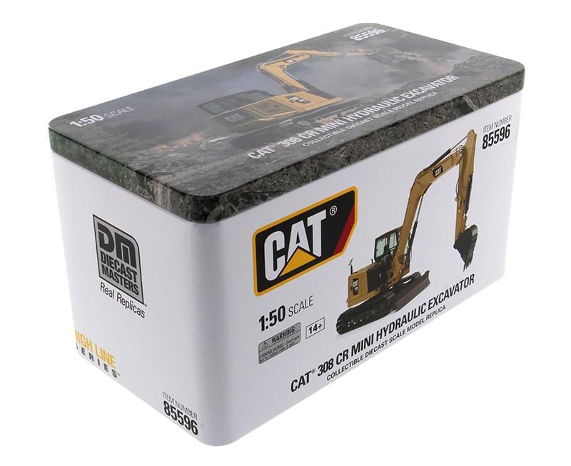 DM 85596 1:50 Cat 308 CR нового поколения мини гидравлический экскаватор с инструментами для работы игрушка