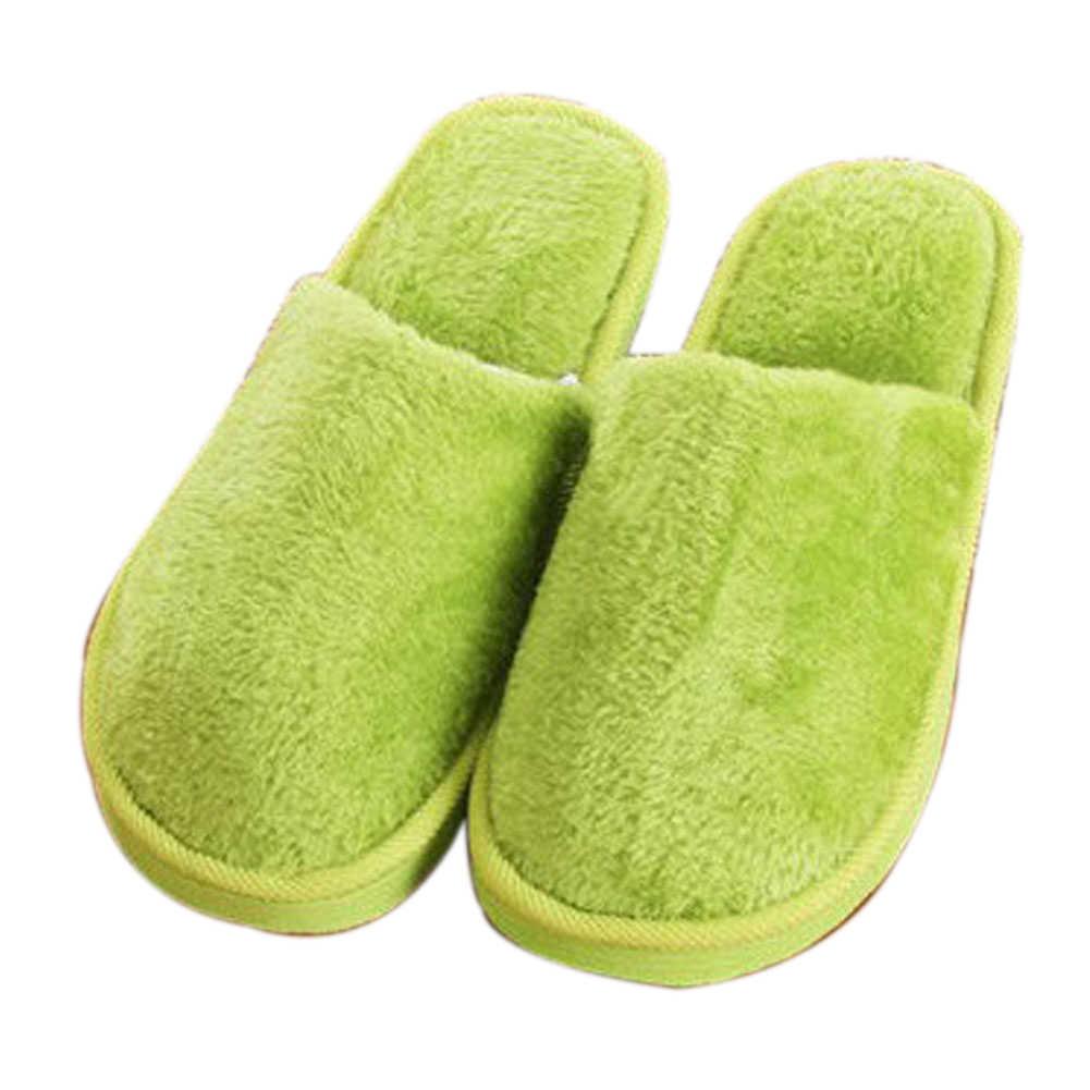 Casal inverno quente chinelos mulher macio algodão doce cor casa interior sapatos
