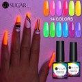 UR SUGAR 2/4/6 шт., флуоресцентный неоновый Гель-лак для ногтей, набор, светящийся в темноте, гель-лаки, вымачиваемый, УФ-светодиодный, Гибридный Ге...