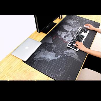 Игровой коврик для мыши, большой коврик для мыши, компьютерный коврик для мыши, резной коврик для мыши с картой мира, Настольный коврик для к...