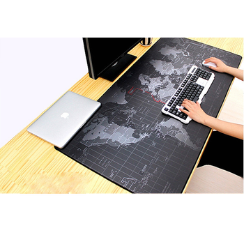 Gaming Mouse Pad Large Mouse Pad Big Mouse Mat Computer Mousepad Carved World Map Mause Pad Desktop Keyboard Mat Cushion XXL XL