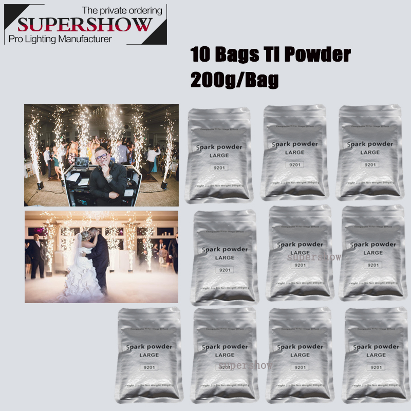 200g Indoor Outdoor Cold Sparkler Electronic Spark Machine Composite Ti Powder For Stage Events Show