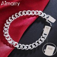 Bracelet Aimarry 925-Sterling-Silver Jewelry Side-Chain Party Wedding-Fashion Women 10MM