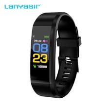 Lanyasir 115 Plus Smart Wristband Blood Pressure Watch Fitness Tracker Heart Rate Monitor Band Activity Bracelet