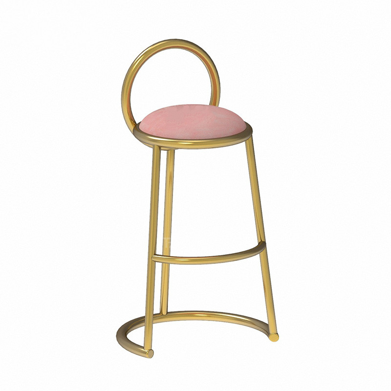 Barstool Nordic Luxury  Chair Ins Simple Net Red  Cafe Restaurant Leisure Back High Stand
