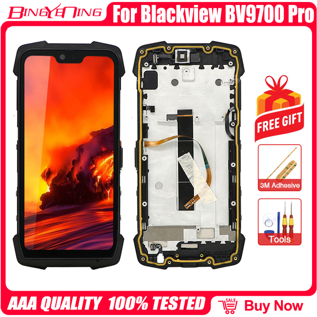 100% Original 5.84 inch For Blackview BV9700 Pro LCD&Touch Screen Digitizer with frame Display module Repair Replacement Parts