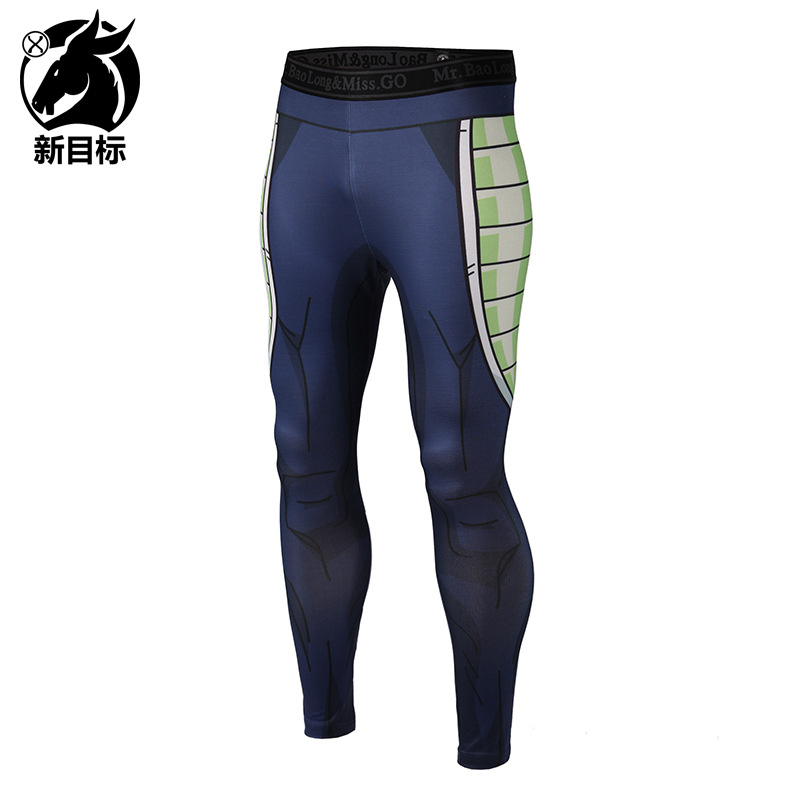 Leggings  Spring New Style Men'S Wear Sports Fitness Pants Cartoon Muscle 3D Printed Elasticity Tight Yoga Pants