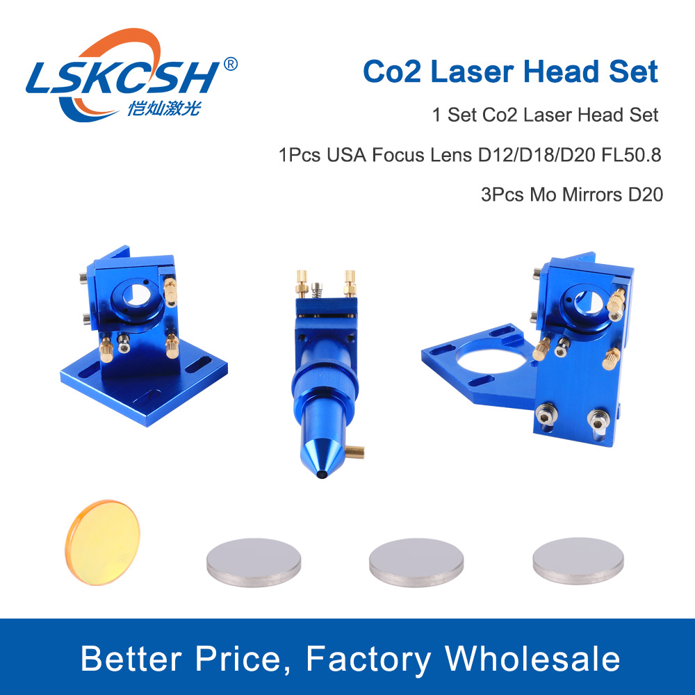 LSKCSH High Quality K Series: CO2 Laser Head Set For 2030 4060 K40 Laser Engraving Cutting Machine Facotyr Wholesale