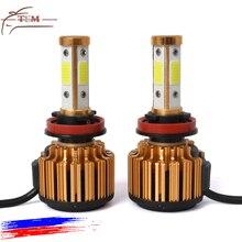 цена на H4 Led Car Headlight Bulbs H8 H11 Diode Lamp for Auto 12V LED Bulbs Car 9005 9006 9007 HB4 H3  Hb3 Led Fog Running Lights