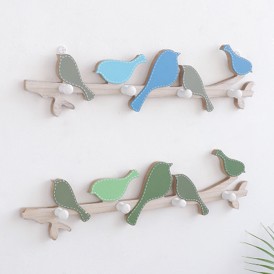 American Creative Wooden Bird Coat Hook Fitting Room Wall Hook Door Entrance Wall Bag Coat Hook