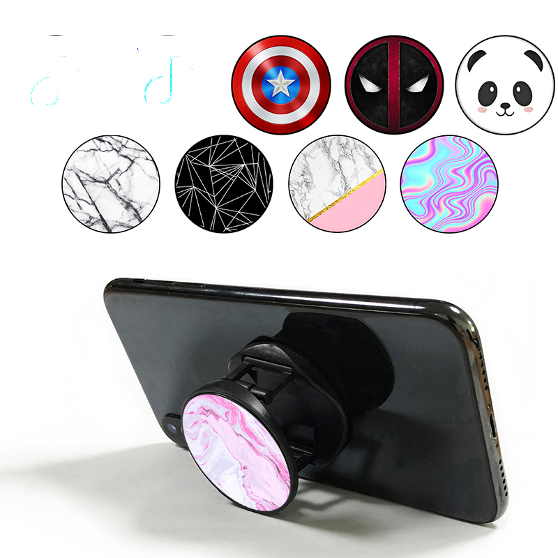 попсокет Finger Ring Bracket Pocket Socket Marble Phone Holder Smarphones Stretch Expanding Stand Grip Phone Socket Pops