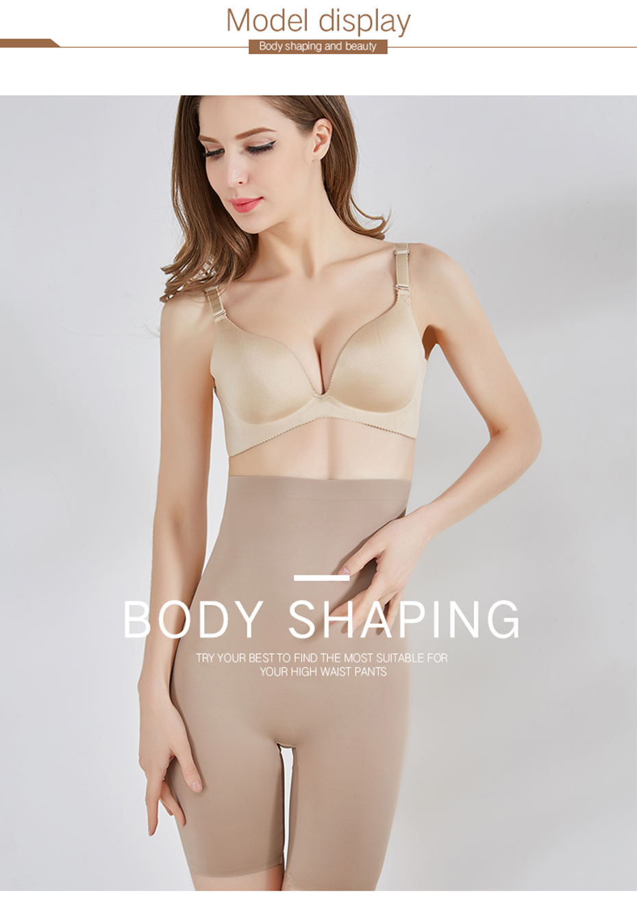CXZD High Waist Slimming Control Panties Super Elastic Shaping Panties Breathable Seamfree Body Shapers Women Shapers Pants Underwear (7)