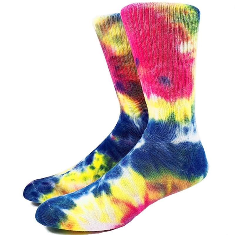 Top Quality Men Tie Dye Skateboard Socks USA 7-11,EU 40-44