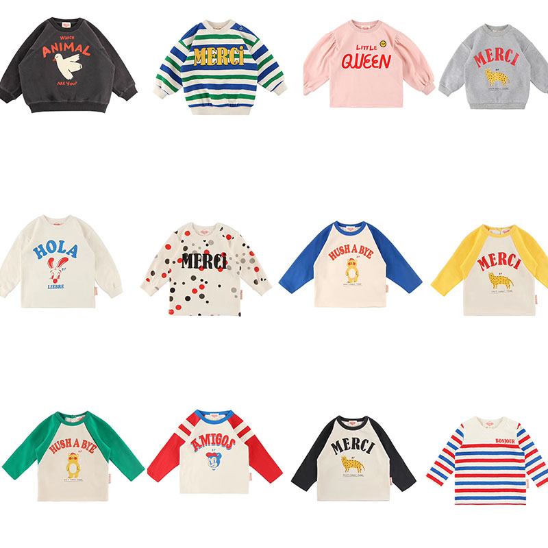 2019 Bebe de Pi** Korean Baby Boys Girls Fall Clothes Toddler Long Sleeve TShirt Lovely Cartoon Letter Print Tops Baby Tshirt-in T-Shirts from Mother & Kids