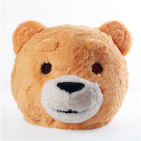 Brown Bear Head Mask Mascot Costume Halloween Cosplay Party Fancy Dress Halloween Parade Advertising Character