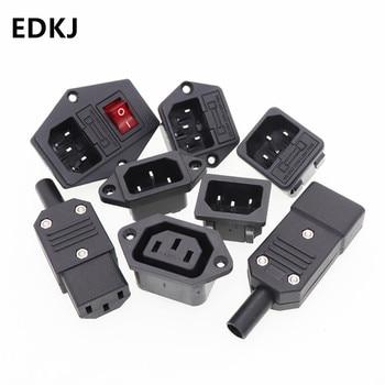 1pcs Three core power cord plug socket male / female ac-01 / 02 / 04 / 05 electric rice cooker power copper base