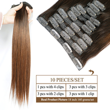 Brown Clip In Human Hair Extensions