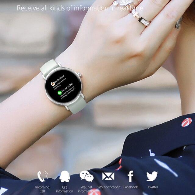 Mulher relógio inteligente tempo real previsão do tempo atividade rastreador monitor de freqüência cardíaca esportes senhoras relógio inteligente masculino para android ios 3