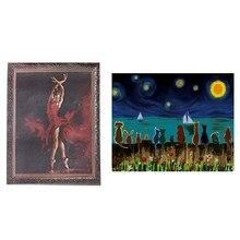 2 набора Animal Feelings/Балерина краска работает краска по номерам Diy масляная краска ing-балетная танцовщица 16x20 дюймов(бескаркасная