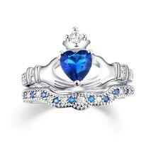Женское кольцо с короной в форме сердца роскошное свадебное