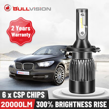 BULLVISION H11 H4 H7 Led 12V 9005 Mini 9006 faros lámpara 20000Lm de alta luminosidad H8 H9 Hb3 Hb4 luces Led de coche bombillas Turbo Csp(China)