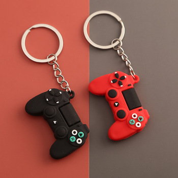 New creative personality simulation game keychain ring pendant men and women couple key chain bag wholesale - discount item  50% OFF Fashion Jewelry
