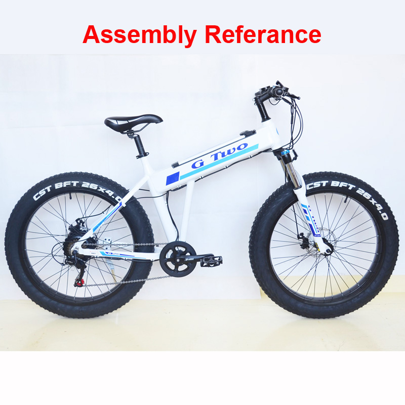 26 Inch Frame of Electric Bicycle, High Strength Aluminium Alloy Frame For Mountain Bike Snow Bike - 2