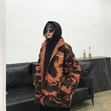 NiceMix Camo Jackets 2019 Winter womens Streetwear Hip Hop Windbreaker Harajuku