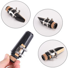 IRIN New Clarinet tube head Clarinet Mouthpiece With Plastic Cap + Bamboo Reed + Metal Ligature(China)