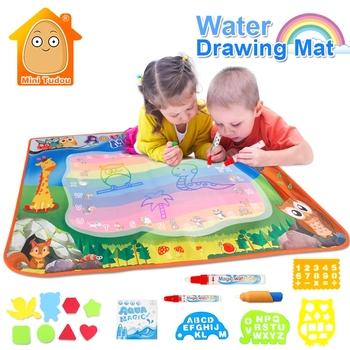 Zabawki wodne dla chłopców 100*70CM Mat do rysowania z kojec gumy EVA rzemiosło magia woda rysunek Aqua mata sztuka i rzemiosło dla dzieci tanie i dobre opinie Mini Tudou Tkaniny 100*70CM Drawing Mat Unisex Rysunek zabawki zestaw 3 lat Deski Kreślarskiej