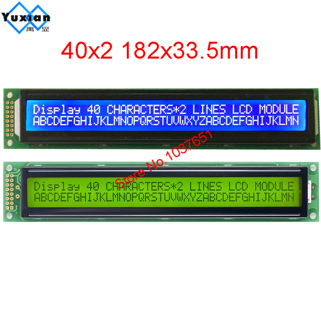 LCD module 40*2 4002 4002A character display  LC4021 instead of  HD44780 WH4002A AC402A LMB402C