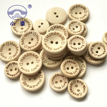 50pcs Natural Color 2 Hole Wooden Buttons Handmade Sewing Accessories Buttons Decoration 15mm/20mm/25mm Button For Clothes S173