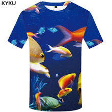 KYKU Fish T shirt Men Carp Anime Clothes Animal Funny shirts Ocean T-shirts 3d Harajuku Tshirt Printed Mens Clothing