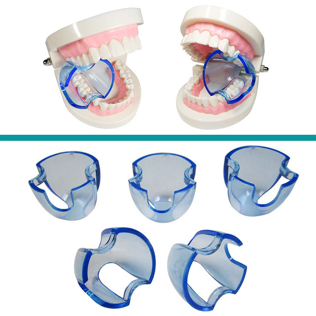 Lote de 20 unidades de Retractor Dental Autoclavable, expansor de mejillas, abridor de boca para dientes posteriores, color azul