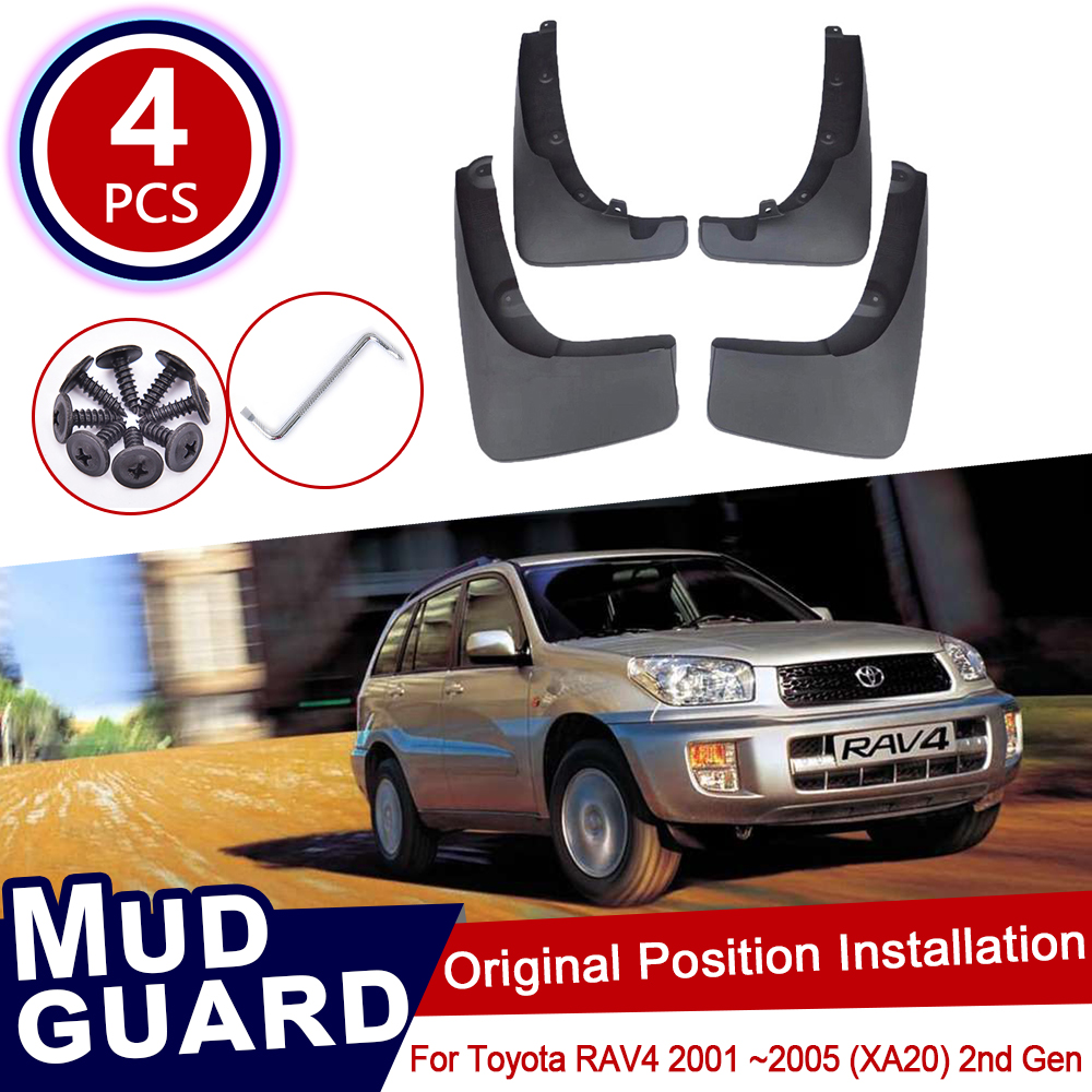 for Toyota RAV4 <font><b>RAV</b></font> <font><b>4</b></font> XA20 2001~2005 2nd Gen Mud Flaps Splash Guards Mudguards Carbon Fiber effect Mudflaps 2002 2003 <font><b>2004</b></font> image