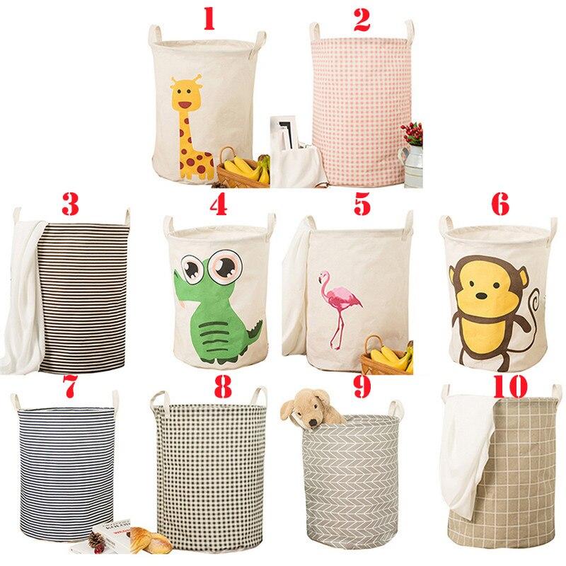 Dobrável dobrável cesta de lavanderia grande capacidade bin balde  lavanderia cesta lona suja organizador de roupas com alça bin  1pcCestos de armazenamento