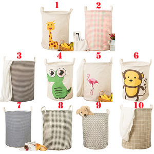 Image 1 - Folding Collapsible Laundry Basket Large Capacity Bin Bucket Laundry Hamper Canvas Dirty Clothes Organizer With Handle Bin 1pc