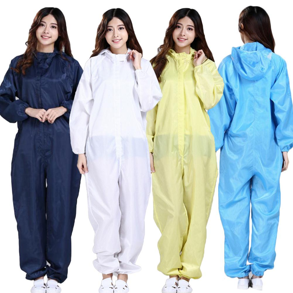 Lightweight Men Women Sanitary Protection Jumpsuit Anti-static Isolation Protective Coveralls Dacron Long Sleeve Accessories