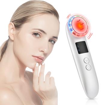 Oczyszczające urządzenie do odmładzania LED terapia fotonowa masażer wibracyjny skóra przyrząd kosmetyczny ciepłe leczenie masaż narzędzie do pielęgnacji twarzy tanie i dobre opinie DearBeauty Electric CN (pochodzenie) ABS+Stainless Steel Twarzy czyste Odmładzanie skóry Skóry Mouisture Gorąco i zimno masażysta