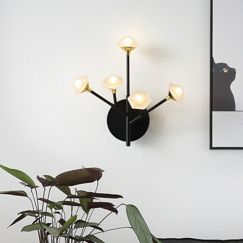 Nordic Wall Lamp Fixture Simple Bedroom Bedside Staircase Hallway Creative Wall Sconce Luxury Background Bathroom Led Wall Light - 2