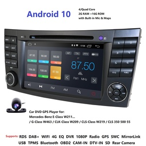 Image 1 - IPS 4G Android 10 2 din auto DVD player Für Mercedes Benz E klasse W211 E200 E220 E300 e350 E240 E270 E280 CLS KLASSE W219 GPS Navi