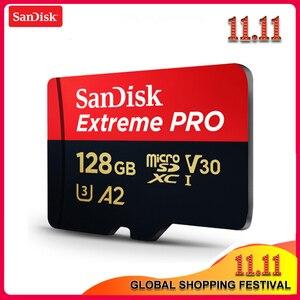 Image 1 - オリジナルサンディスクエクストリーム Sd カードまで 170 メガバイト/秒 A2 V30 U3 64 ギガバイト 128 ギガバイト 256 ギガバイトサンディスク TF カードメモリカード Sd アダプタ