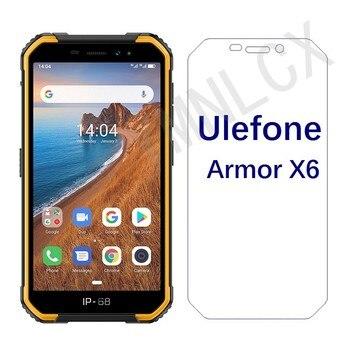Перейти на Алиэкспресс и купить 2.5D 9H закаленное стекло для Ulefone Armor X6 Взрывозащищенная защита для экрана для Ulefone Armor X7 Передняя стеклянная крышка для телефона
