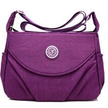2020 New Single  Zipper Shoulder & Crossbody Bags Nylon Waterproof Package Compartment  Womens Messenger Bag
