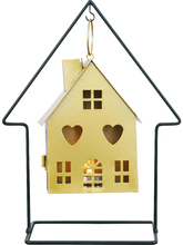 Hanging House Gold Vintage Candlestick Nordic Metal Romantic Candle Holder Creative Bedroom Home Decoration