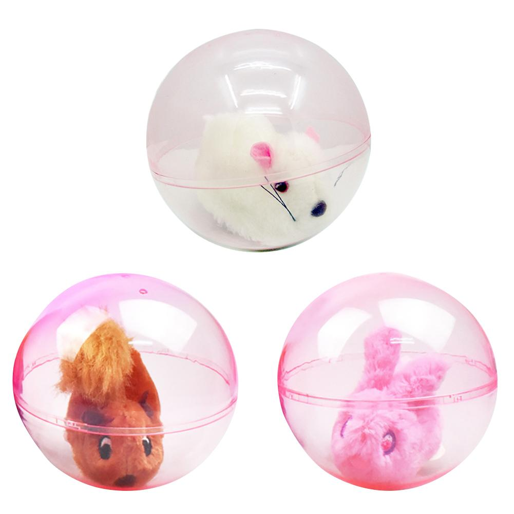 Novelty Electric Hamster Rabbit Animal Running Rolling Ball Kids Children Toys Kids Children Hamster Rabbits Pet Toy Gifts
