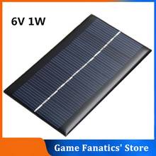 6V 1W Mini Solar Panel Solar Cells DIY For Light Cell Phone Toys Chargers Portable Drop Shipping HIgh Quality DIY