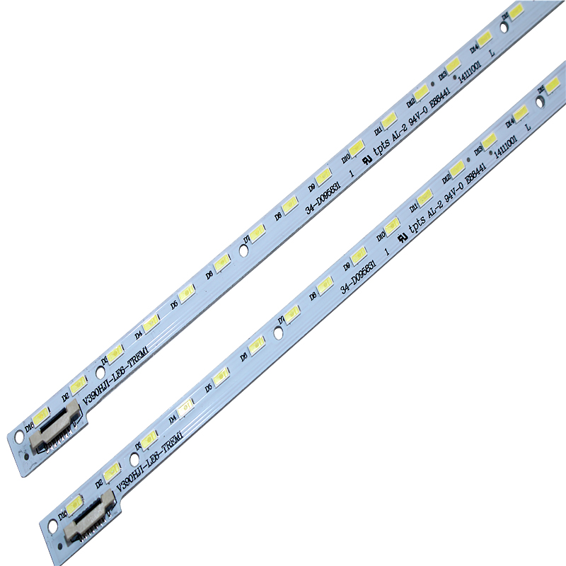 New 2pcs 48LED 490mm LED Backlight Strip For 39inch V390HJ1-LE6-TREM1 V390HJ1-LE6-TREW1 C420E06E01A L390H101EA-C002